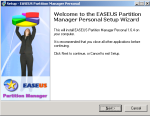 Proceso de instalacion EASEUS Partition Manager